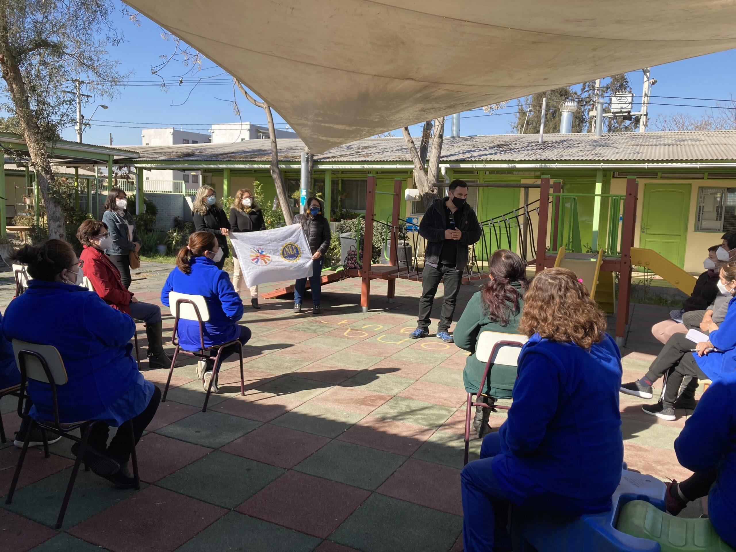 Directorio Nacional realizó visita a jardines infantiles de Cerrillos y Maipú