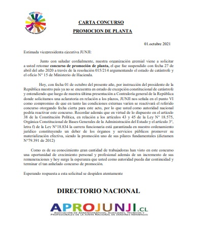 CARTA CONCURSO PROMOCION DE PLANTA